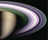 Saturns' Rings from the other side.