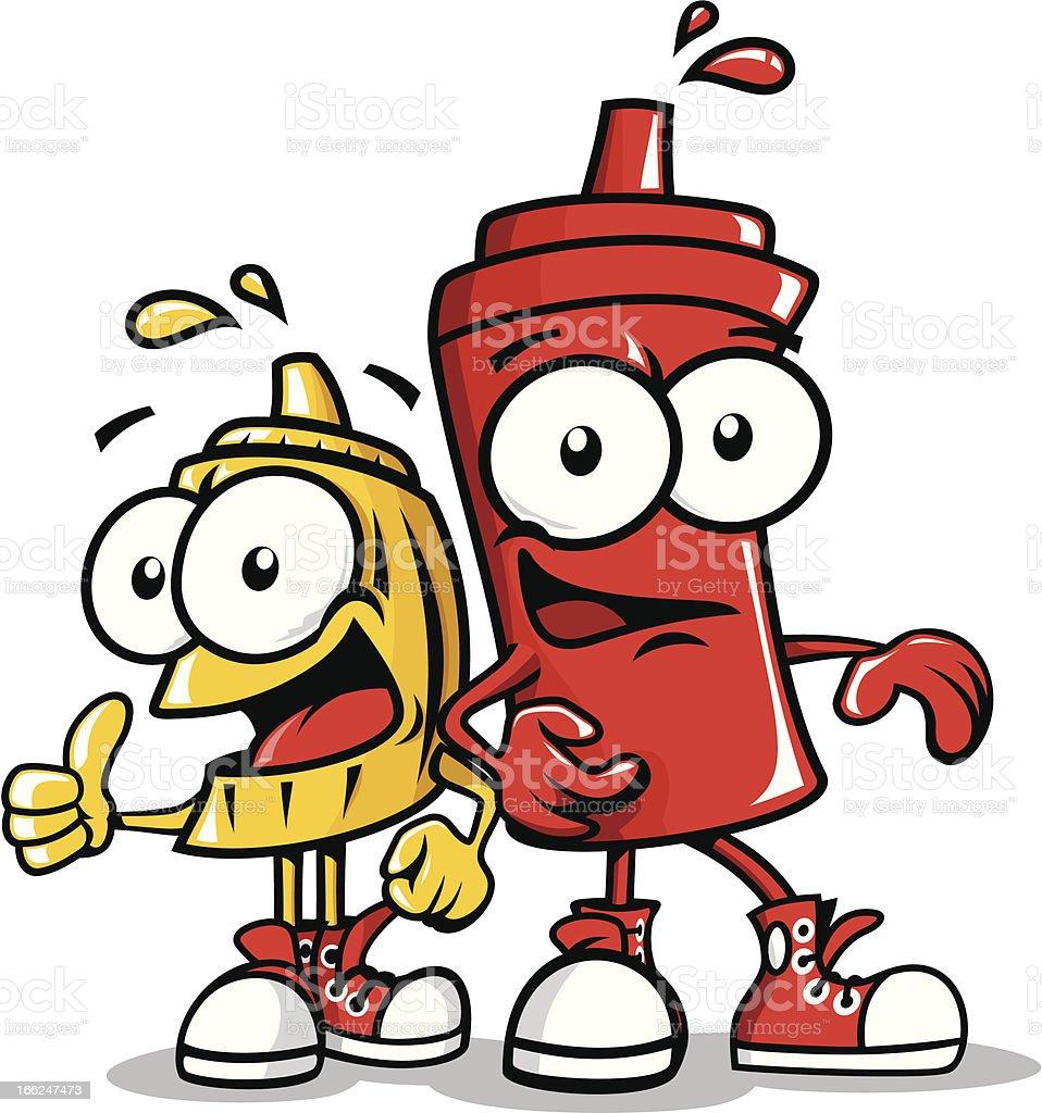 Sauces cartoon vector art illustration