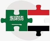 Saudi Arabia and Yemen Flags