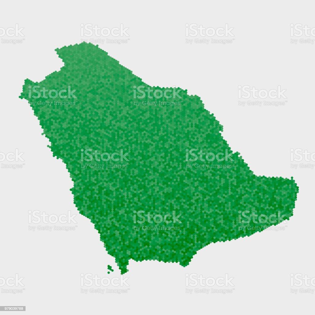 saudi arabia country map green hexagon pattern royalty free saudi arabia country map green hexagon
