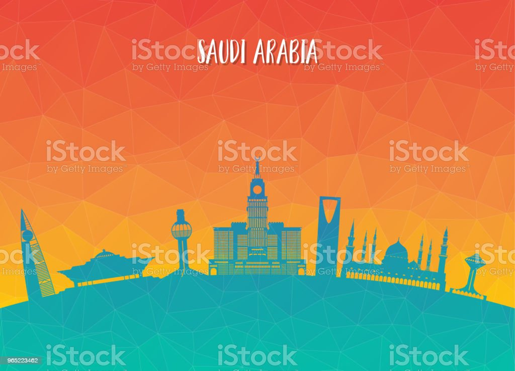 Saudi Arabia Landmark Global Travel And Journey paper background. Vector Design Template.used for your advertisement, book, banner, template, travel business or presentation. royalty-free saudi arabia landmark global travel and journey paper background vector design templateused for your advertisement book banner template travel business or presentation stock vector art & more images of architecture