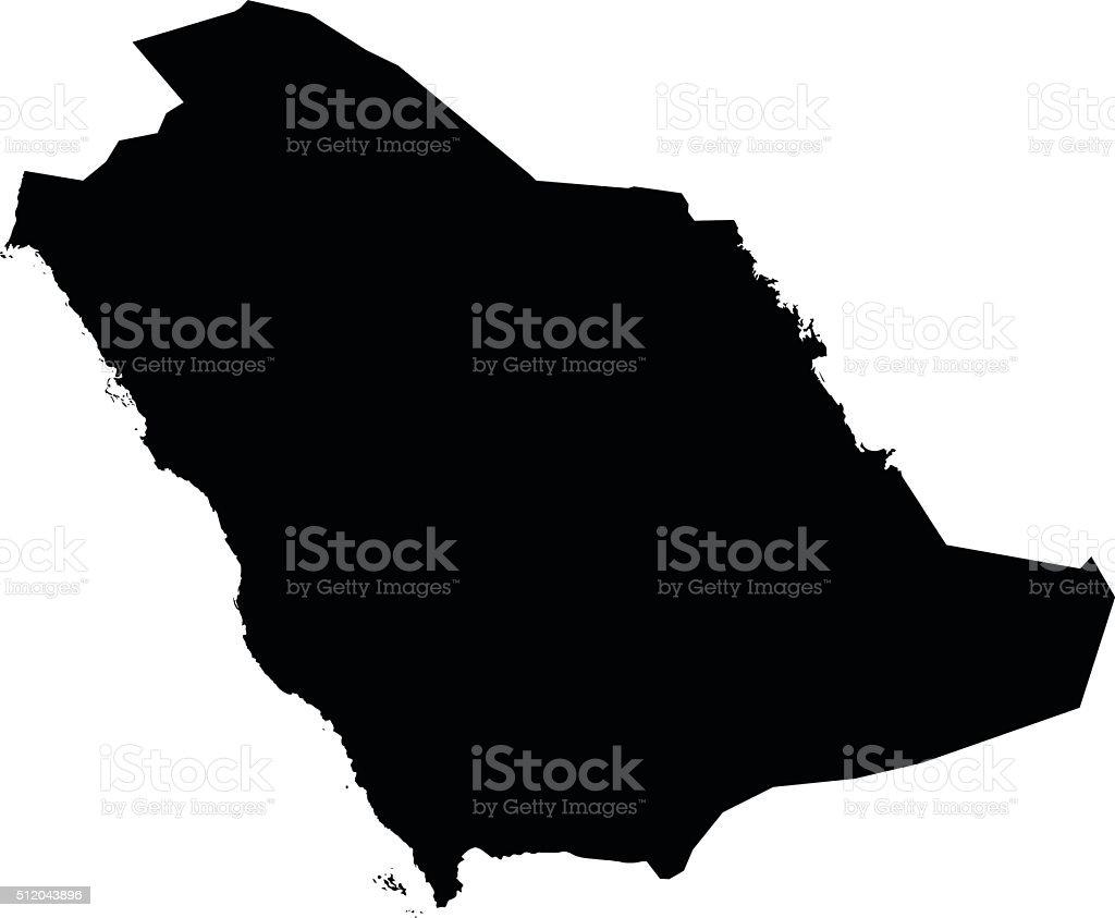 Arabia Saudita Saudita Mapa del Vector de fondo blanco - ilustración de arte vectorial