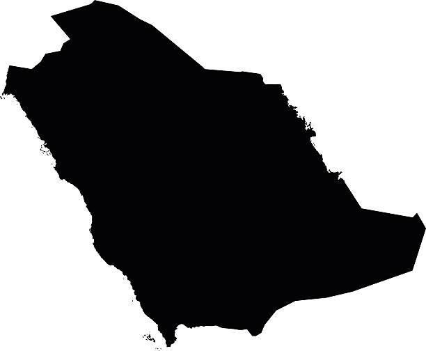 ilustraciones, imágenes clip art, dibujos animados e iconos de stock de arabia saudita saudita mapa del vector de fondo blanco - mapa de oriente medio