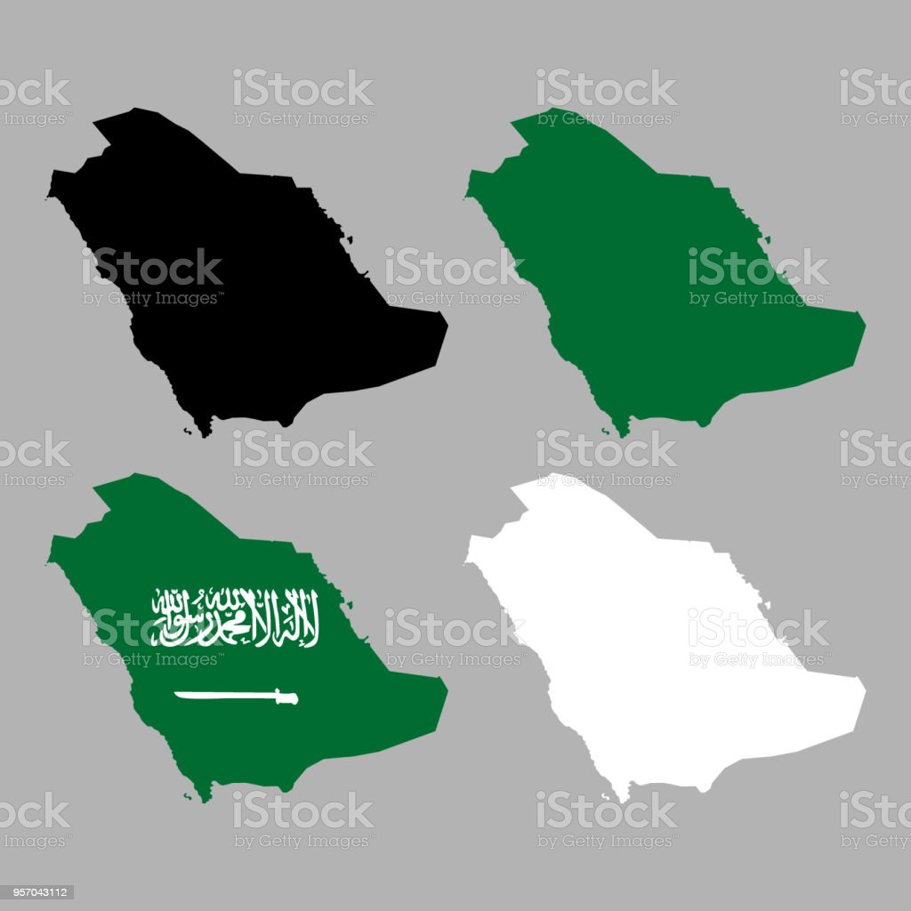 Saudi Arabia Map Stock Vector Art & More Images of Abstract | iStock