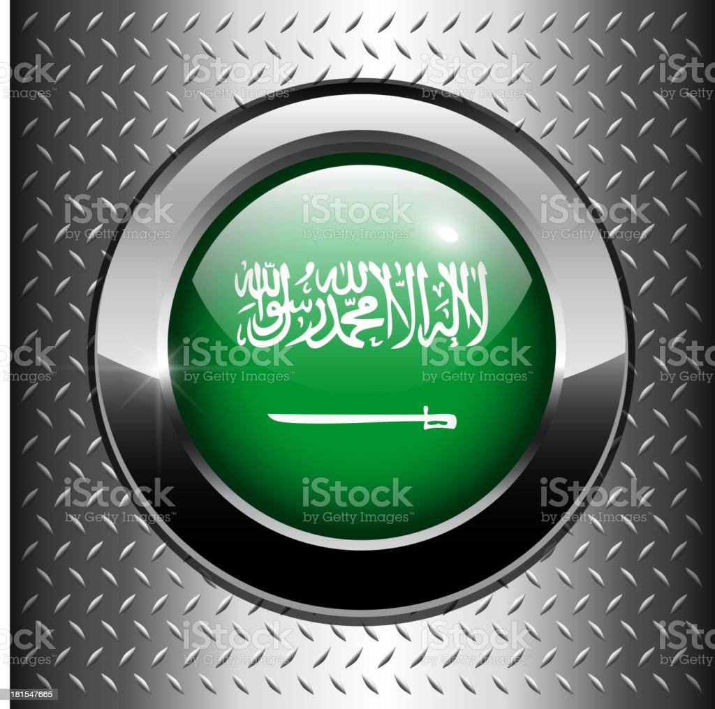 Saudi Arabian flag button royalty-free stock vector art
