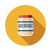 Sauerkraut Flat Design Germany Icon