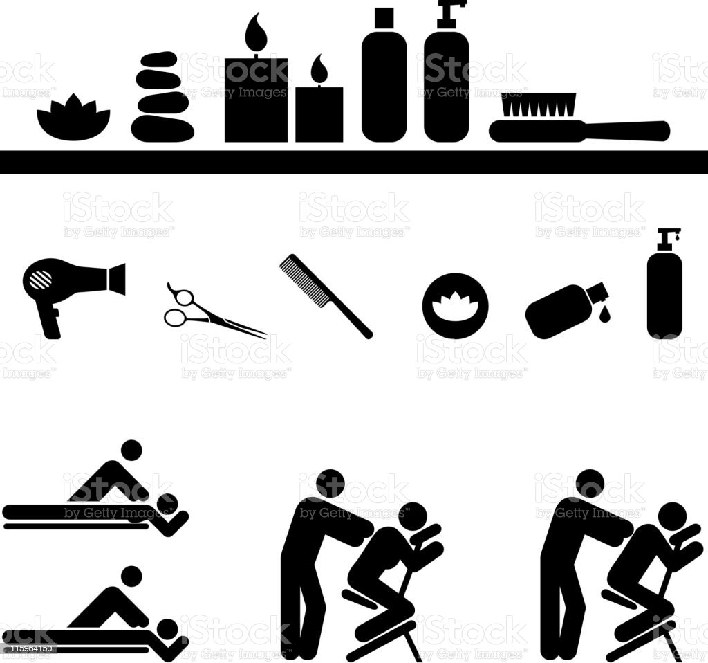 sauna spa saloon royalty free vector icon set royalty-free sauna spa saloon royalty free vector icon set stock vector art & more images of after work
