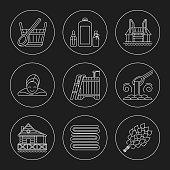Sauna Theme Icon Set