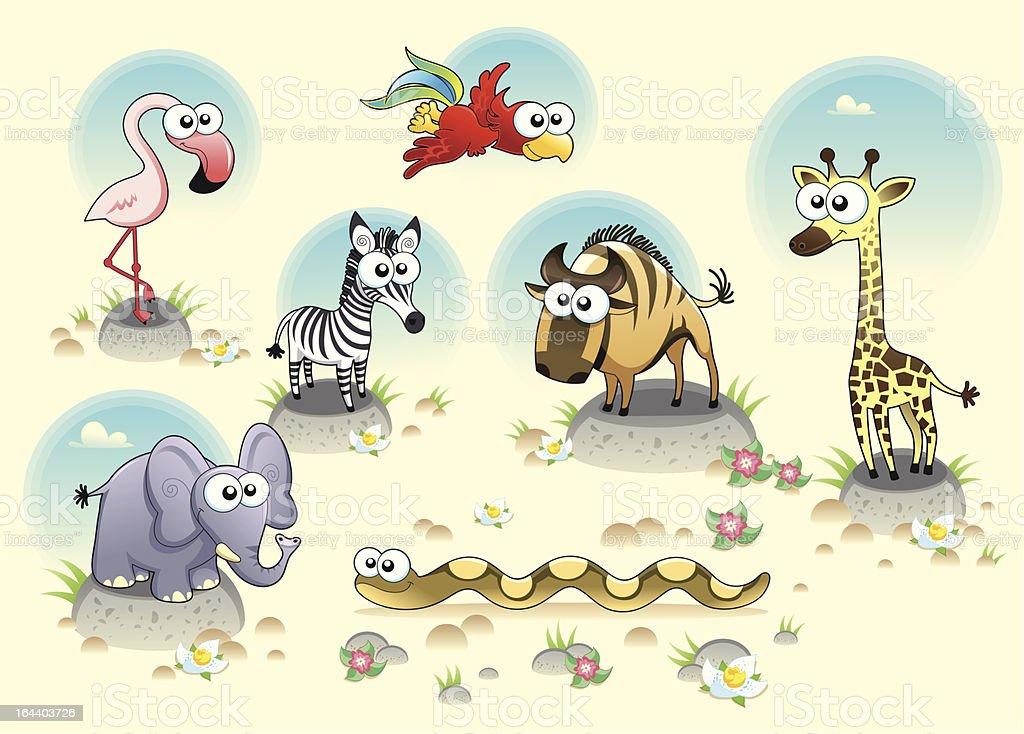 Savannah animals. royalty-free savannah animals stock vector art & more images of animal