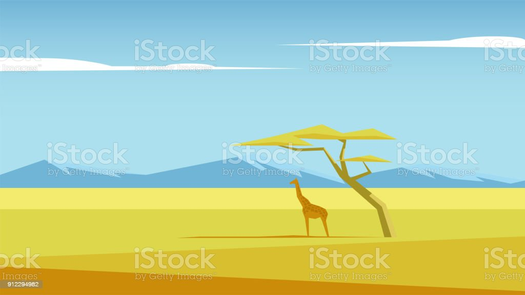 Savannah vector landscape