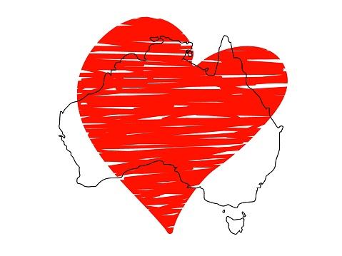 Save Australia vector stock illustration