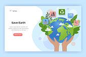 istock Save Earth concept illustration. 1203727135