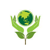 save earth. eps 10 vector file