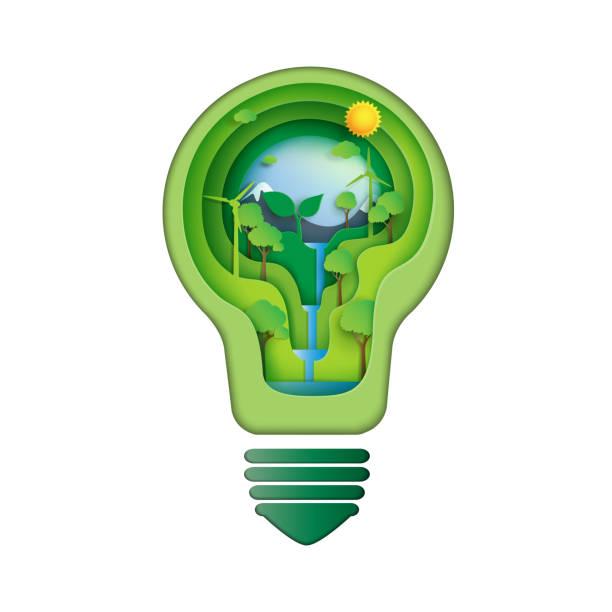 Sauver le concept idée énergétique - Illustration vectorielle