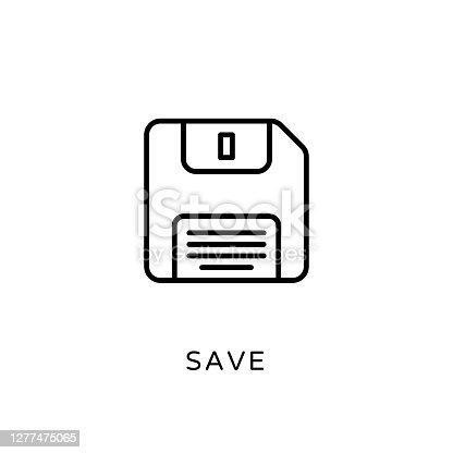 istock Save icon in vector. Logotype 1277475065