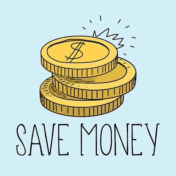 stockillustraties, clipart, cartoons en iconen met save money and vector illustration - thaise munt