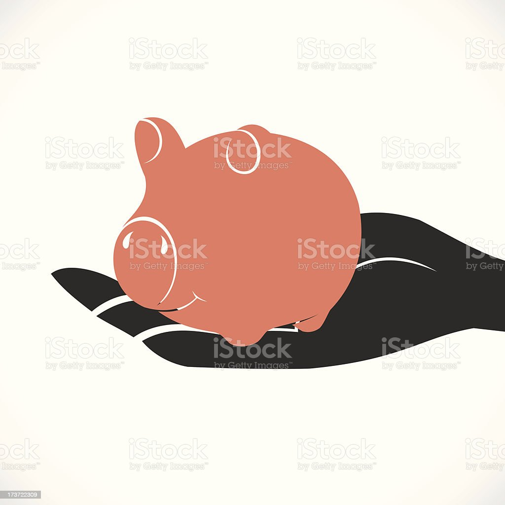 save money concept vector art illustration