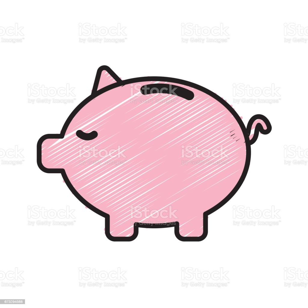 save money inside pig in the home royalty-free save money inside pig in the home stock vector art & more images of antiquities