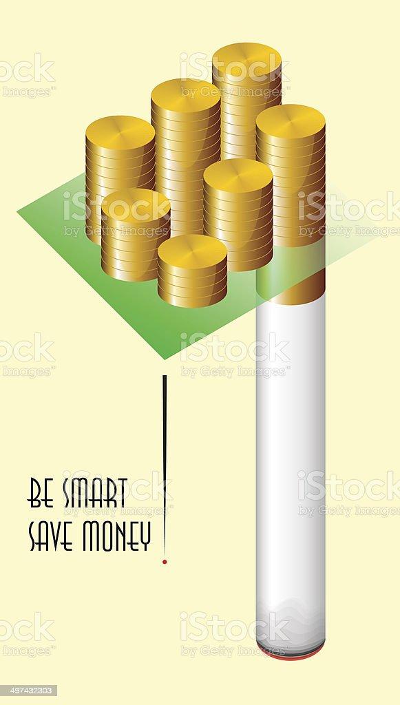 Save money vector art illustration