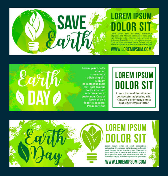 save nature and earth environment vector banners - アースデー点のイラスト素材/クリップアート素材/マンガ素材/アイコン素材