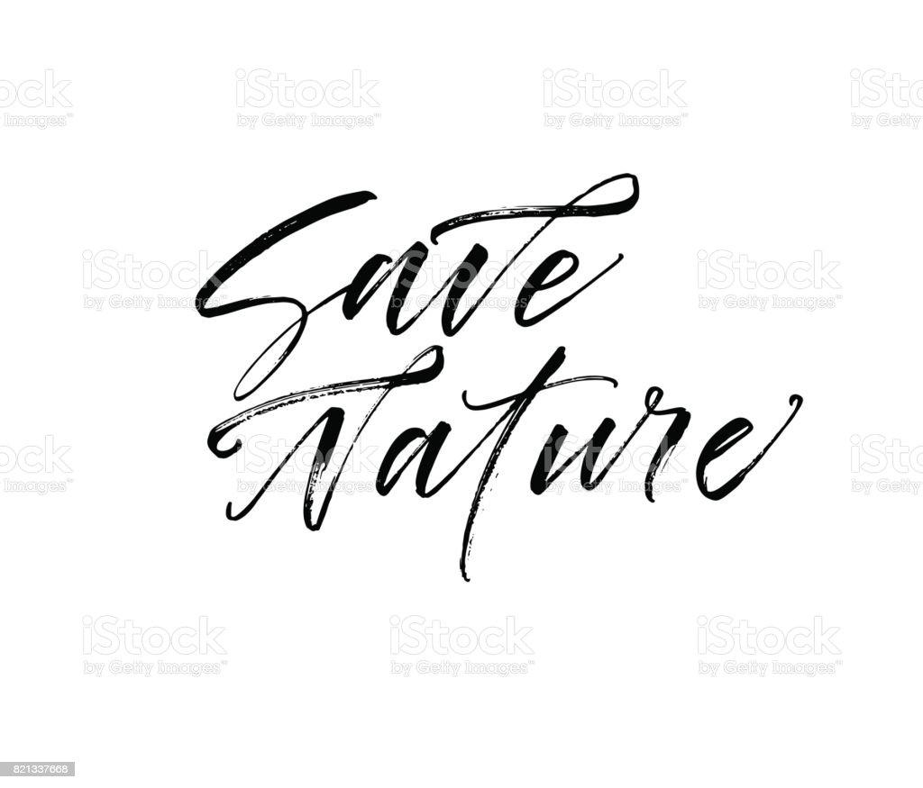 Ilustración De Salvar La Frase De La Naturaleza Y Más