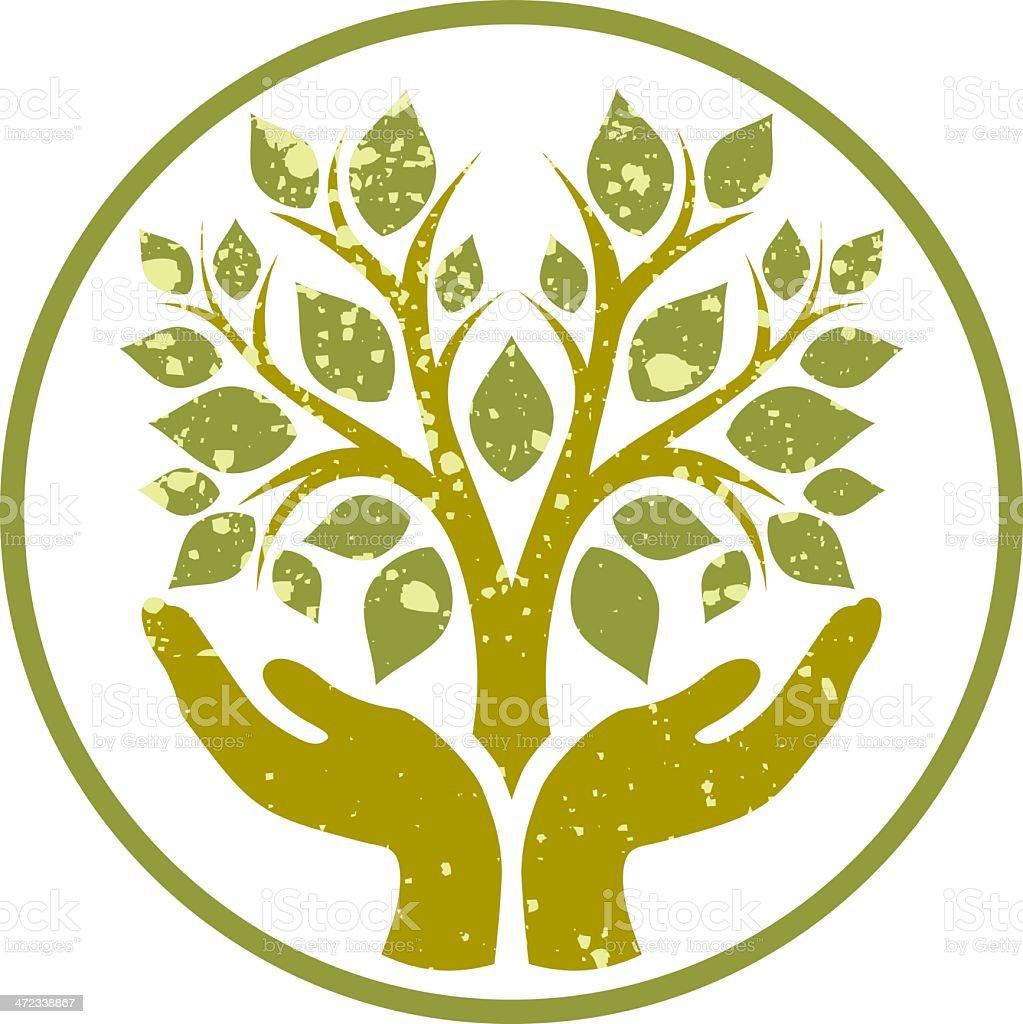 Save nature! vector art illustration