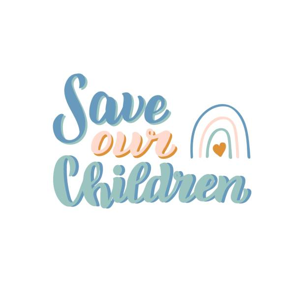 Save our children t-shirt print. End people trade banner. Lettering to illustrate problem with children and human kidnapping. Social issue font. Vector eps 10. Save our children t-shirt print. End people trade banner. Lettering to illustrate problem with children and human kidnapping. Social issue font. Vector eps 10. human trafficking stock illustrations