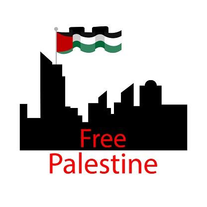 Save Palestine concept vector illustration. Stop war. Free Palestine vector illustration Background, wallpaper, flyer, banner vector illustration