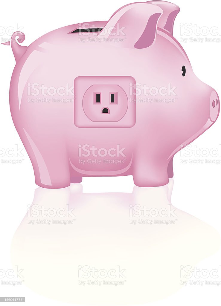Save Power royalty-free stock vector art