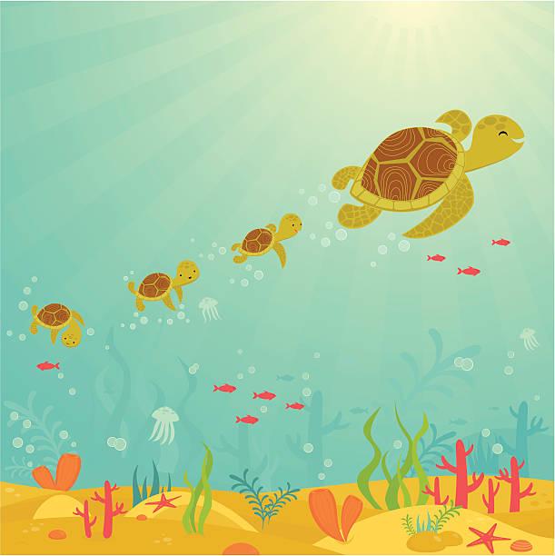 sparen sie meeresschildkröten - schwimmpflanzen stock-grafiken, -clipart, -cartoons und -symbole