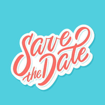 Save the date. Vector lettering banner.