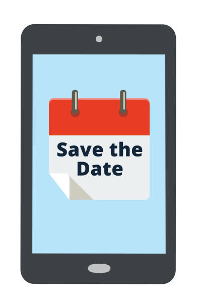 stockillustraties, clipart, cartoons en iconen met de datum agenda opslaan - save the date