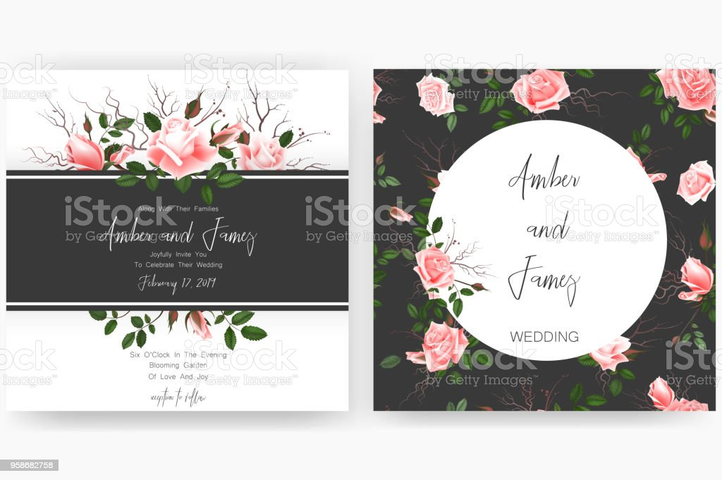 Save the date card wedding invitation greeting card with beautiful save the date card wedding invitation greeting card with beautiful flowers and letters royalty m4hsunfo
