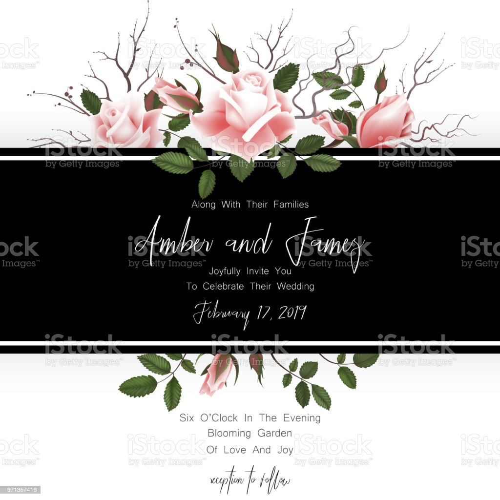 Save the date card wedding invitation greeting card with beautiful save the date card wedding invitation greeting card with beautiful flowers green leaves m4hsunfo