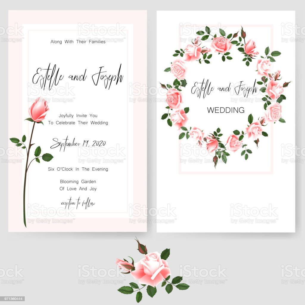 Save The Date Card Wedding Invitation Greeting Card With Beautiful Flowers Green Leaves Of Linden Stock Illustration Download Image Now