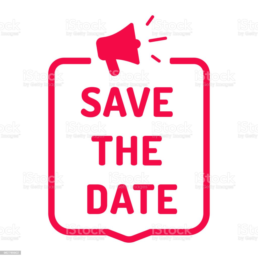 Save the date. Flat vector illustration on white background. vector art illustration