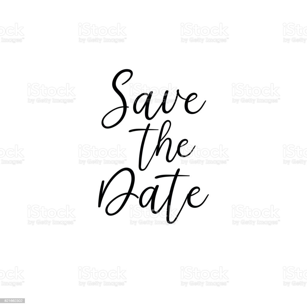 Save The Date Handwritten Calligraphy For Greeting Cards Wedding ...