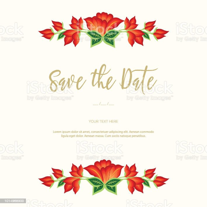 Save The Date Invitation Card Stock Vector Art More Images Of