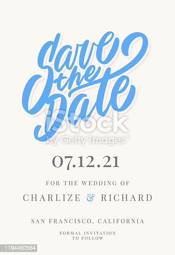 istock Save the date. Invitation template. 1194492554