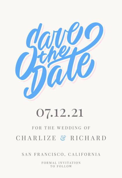 speichern sie das datum. einladungsvorlage. - save the date stock-grafiken, -clipart, -cartoons und -symbole