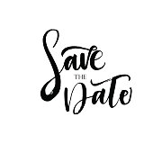 Save The Date phrase.