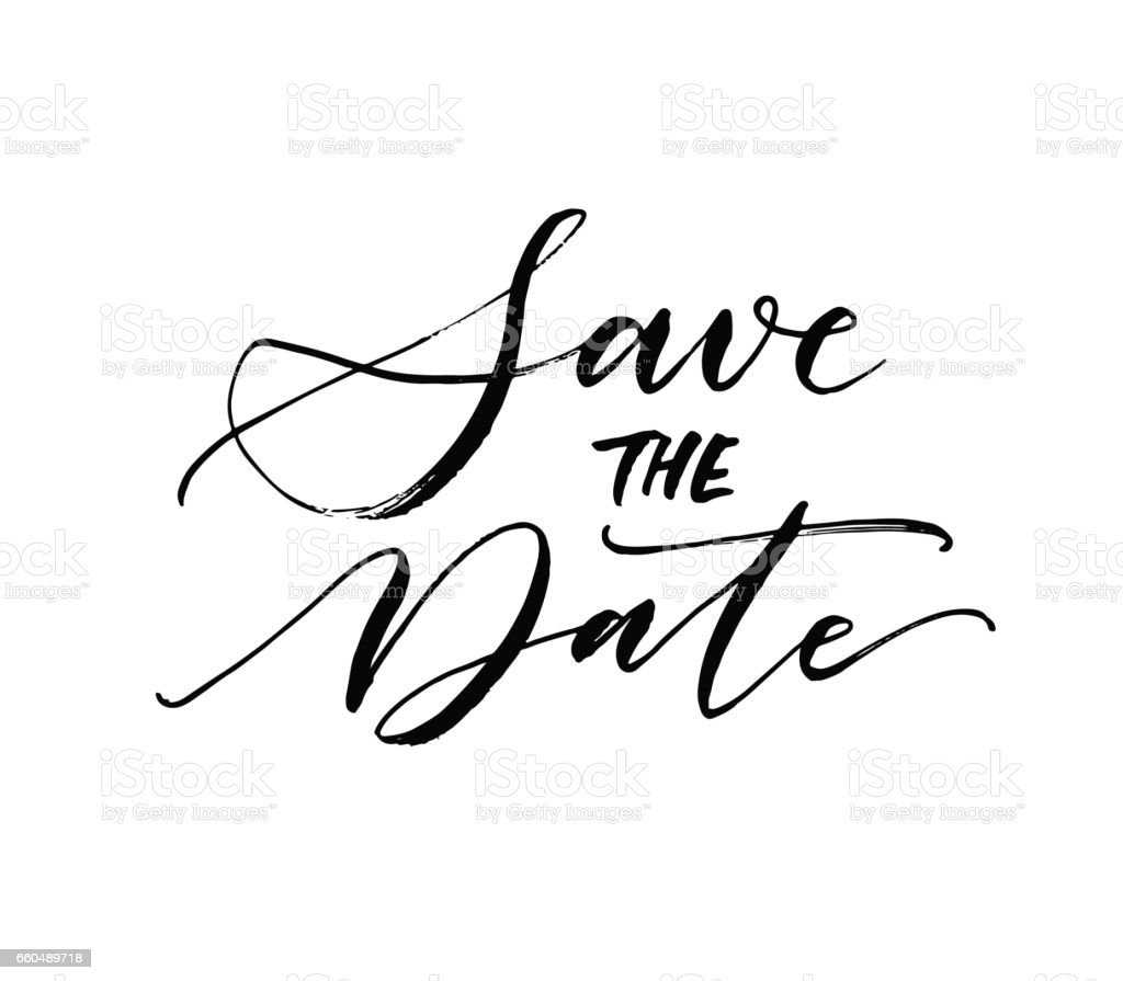 Save the date postcard. vector art illustration