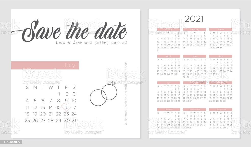 save the date retro wedding invitation calendar 2021. Black Bedroom Furniture Sets. Home Design Ideas