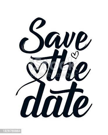 istock Save the date. stylish typography design. 1328785864