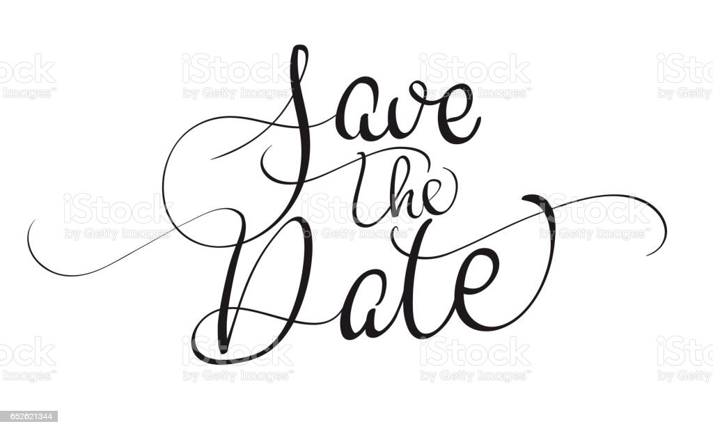 save the date clipart black and white clipartfest clipartix