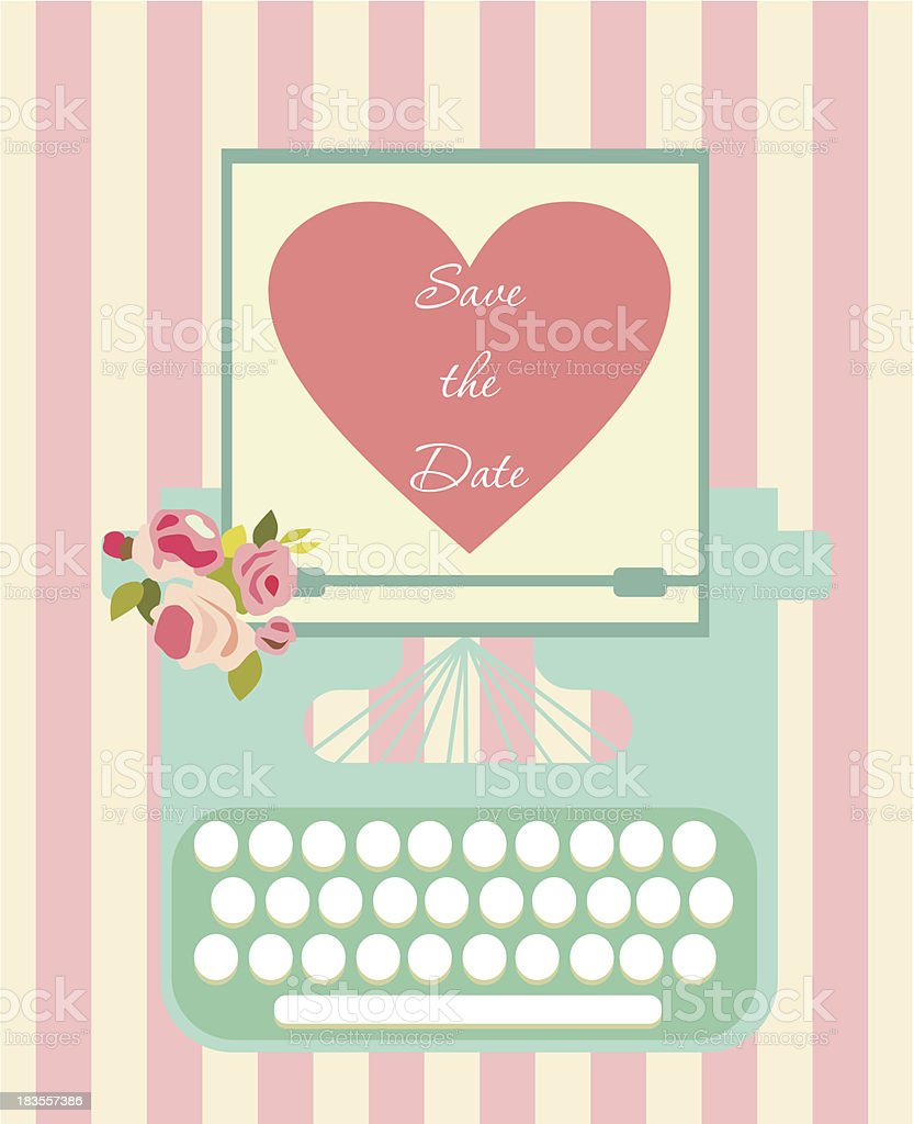 Save the date royalty-free stock vector art