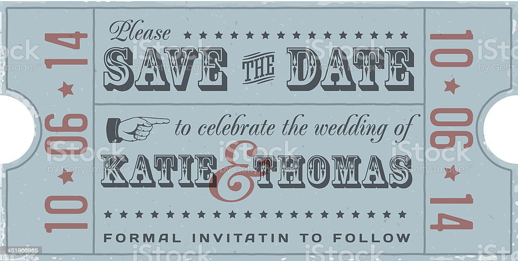 Save the Date Vintage Card royalty-free save the date vintage card stock vector art & more images of antique