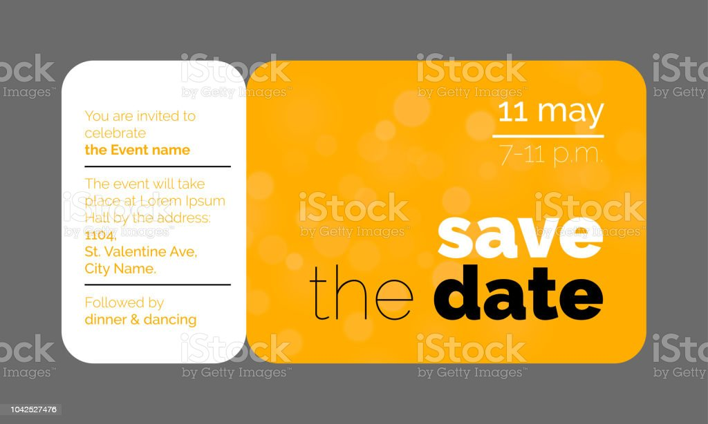 Save The Date Wedding Celebration Invitation Card Creative