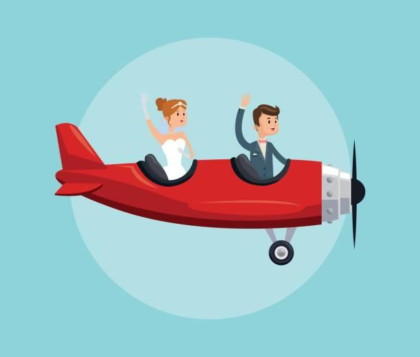 ilustrações de stock, clip art, desenhos animados e ícones de save the date wedding icon. vector graphic - bills couple