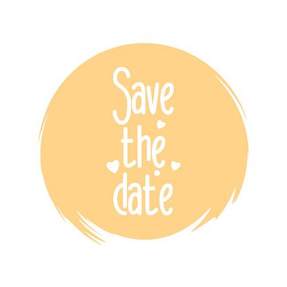 Save the date - wedding lettering design. Vector illustration. stock illustration